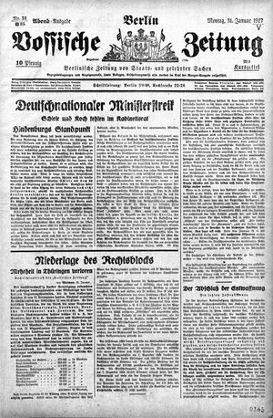 Vossische Zeitung vom 31.01.1927
