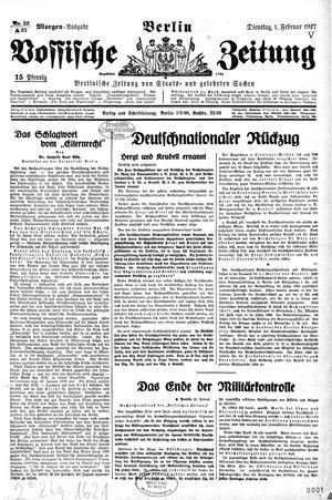 Vossische Zeitung vom 01.02.1927