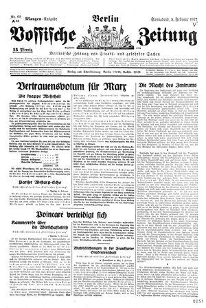 Vossische Zeitung vom 05.02.1927