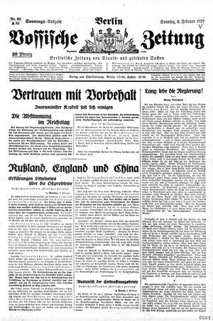 Vossische Zeitung vom 06.02.1927