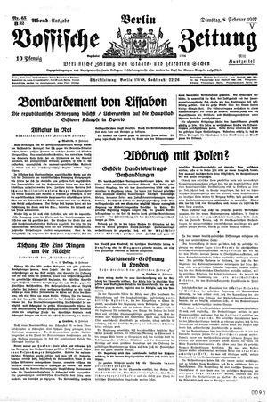 Vossische Zeitung vom 08.02.1927