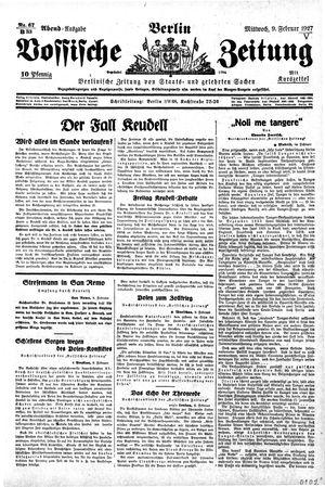 Vossische Zeitung vom 09.02.1927