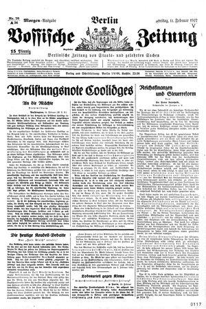 Vossische Zeitung vom 11.02.1927