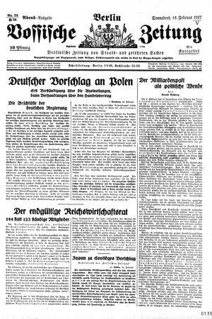 Vossische Zeitung vom 12.02.1927