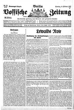 Vossische Zeitung vom 13.02.1927