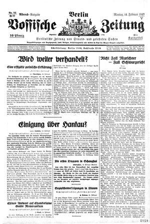Vossische Zeitung vom 14.02.1927