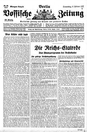 Vossische Zeitung vom 17.02.1927