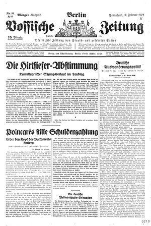Vossische Zeitung vom 19.02.1927