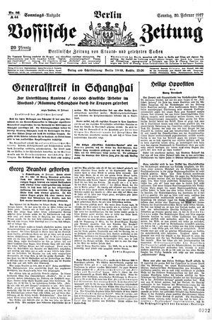 Vossische Zeitung vom 20.02.1927