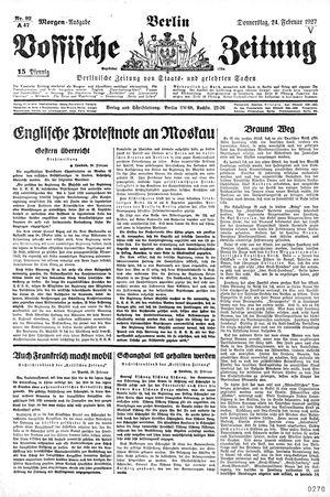 Vossische Zeitung vom 24.02.1927
