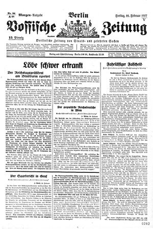 Vossische Zeitung vom 25.02.1927