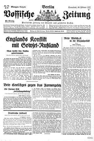 Vossische Zeitung vom 26.02.1927