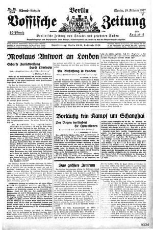 Vossische Zeitung vom 28.02.1927