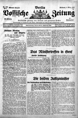 Vossische Zeitung vom 02.03.1927