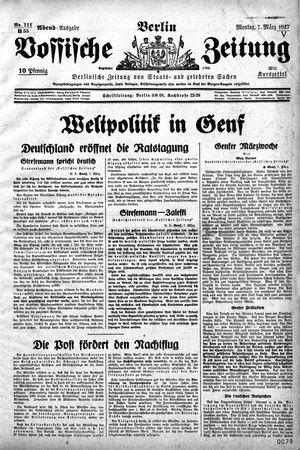 Vossische Zeitung vom 07.03.1927