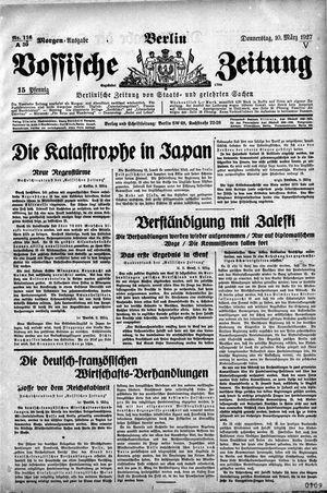 Vossische Zeitung vom 10.03.1927