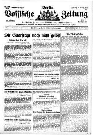 Vossische Zeitung vom 11.03.1927