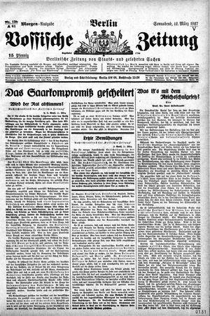 Vossische Zeitung vom 12.03.1927