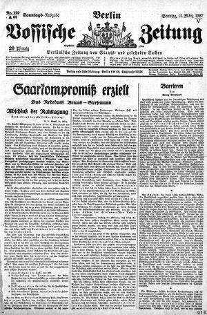 Vossische Zeitung vom 13.03.1927