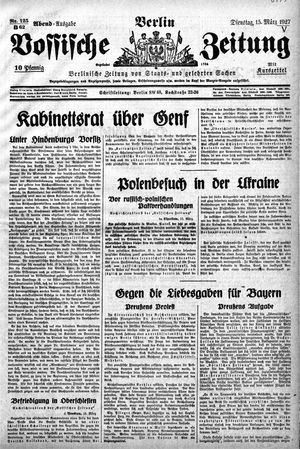 Vossische Zeitung vom 15.03.1927