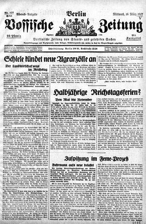 Vossische Zeitung vom 16.03.1927