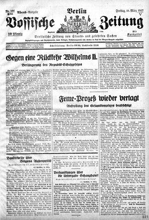 Vossische Zeitung vom 18.03.1927