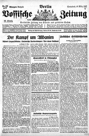 Vossische Zeitung vom 19.03.1927