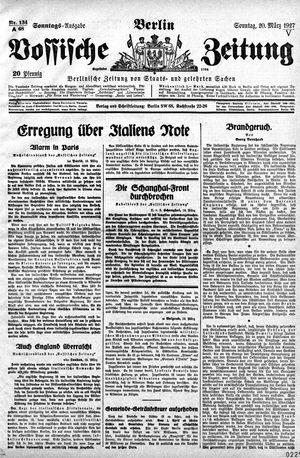 Vossische Zeitung vom 20.03.1927