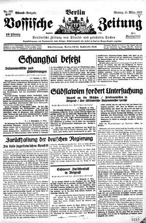 Vossische Zeitung vom 21.03.1927