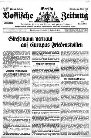 Vossische Zeitung vom 22.03.1927