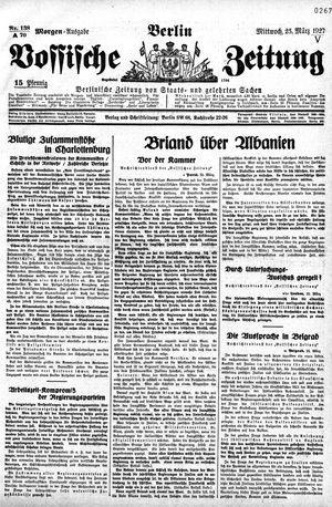 Vossische Zeitung vom 23.03.1927