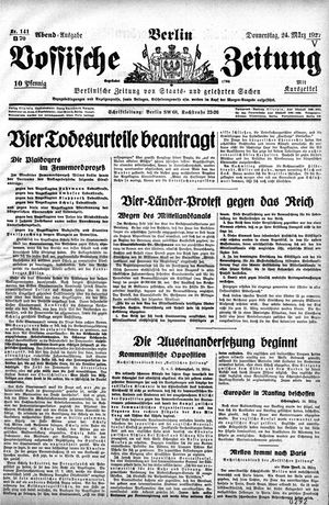 Vossische Zeitung vom 24.03.1927