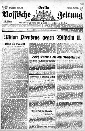 Vossische Zeitung vom 25.03.1927