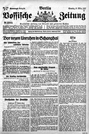 Vossische Zeitung vom 27.03.1927