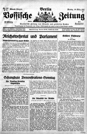 Vossische Zeitung vom 28.03.1927