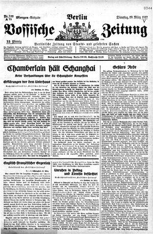 Vossische Zeitung vom 29.03.1927