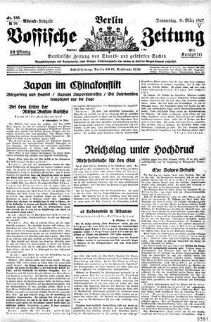 Vossische Zeitung vom 31.03.1927