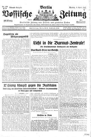 Vossische Zeitung vom 04.04.1927