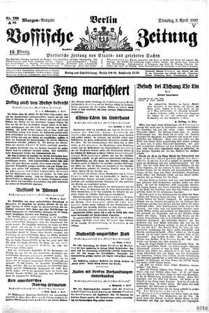 Vossische Zeitung vom 05.04.1927