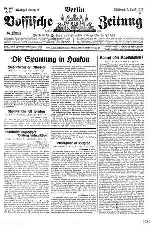 Vossische Zeitung vom 06.04.1927