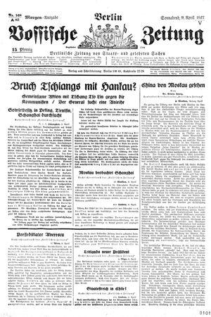 Vossische Zeitung vom 09.04.1927