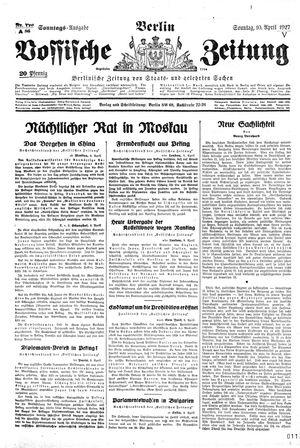 Vossische Zeitung vom 10.04.1927