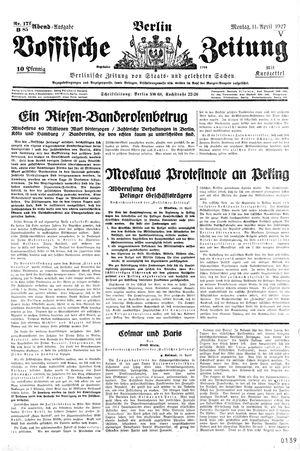 Vossische Zeitung vom 11.04.1927