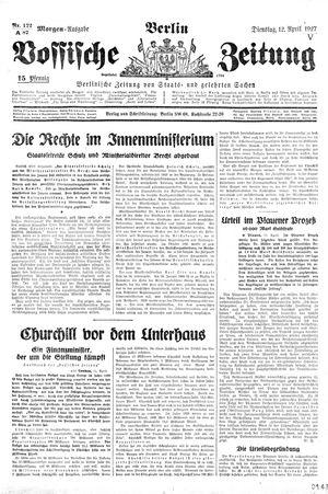 Vossische Zeitung vom 12.04.1927