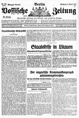 Vossische Zeitung vom 13.04.1927