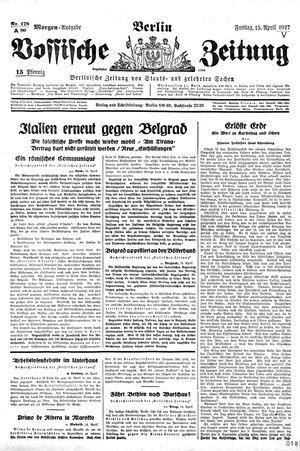 Vossische Zeitung on Apr 15, 1927
