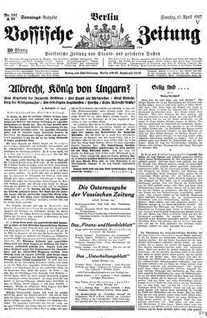 Vossische Zeitung vom 17.04.1927