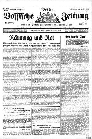 Vossische Zeitung vom 20.04.1927