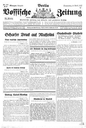 Vossische Zeitung vom 21.04.1927
