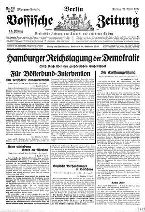 Vossische Zeitung vom 22.04.1927